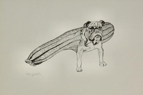 Bulldog-Zucchini Handbill