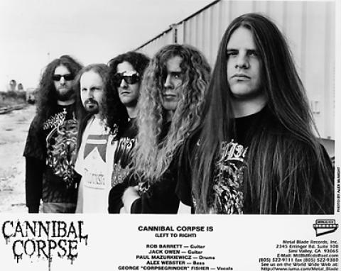 Cannibal Corpse Promo Print