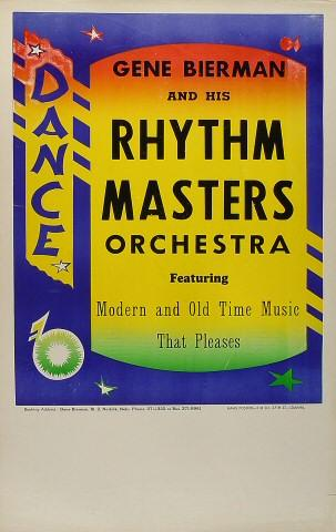 Gene Bierman and His Rhythm Masters Orchestra Poster