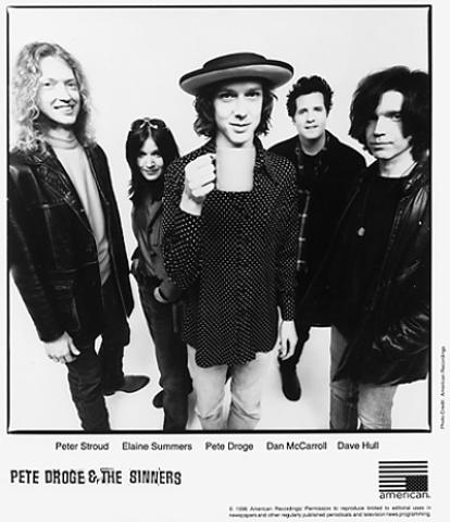 Pete Droge and the Sinners Promo Print