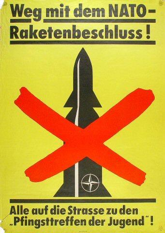 Weg mit dem NATO-Raketenbeschluss Poster