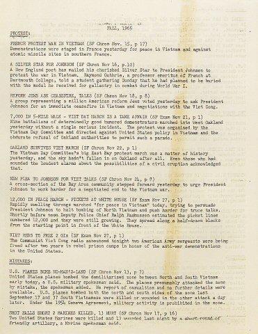 Haight Ashbury Vietnam Committee Handbill