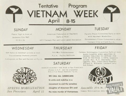 Vietnam Week Handbill