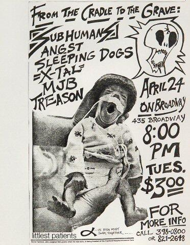 The Subhumans Handbill