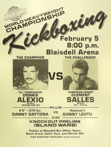 World Heavyweight Kickboxing Championship Poster