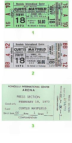 Curtis Mayfield Vintage Ticket
