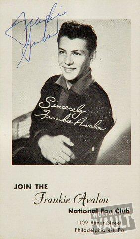 Frankie Avalon Handbill