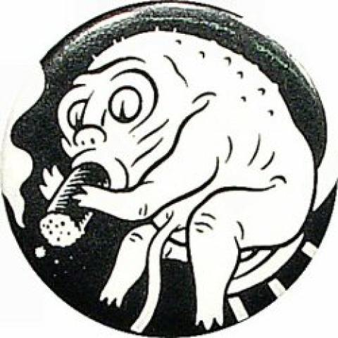 Monster Smoking Pin