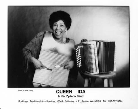Queen Ida & Her Zydeco Band Promo Print