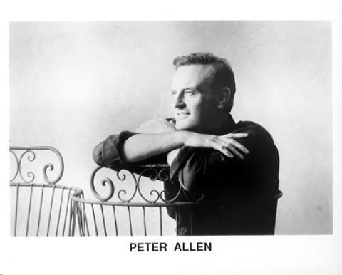 Peter Allen Promo Print