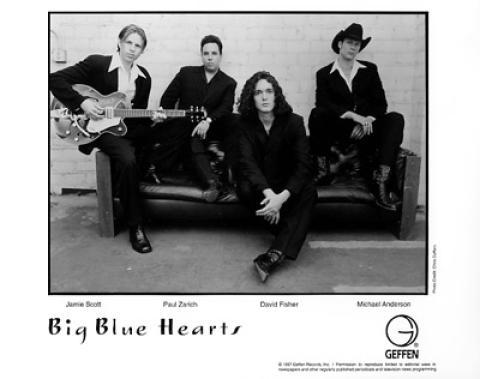 Big Blue Hearts Promo Print