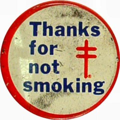 Thanks For Not Smoking Pin