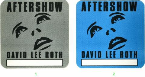 David Lee Roth Backstage Pass