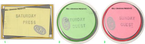 Bill Graham Presents Backstage Pass