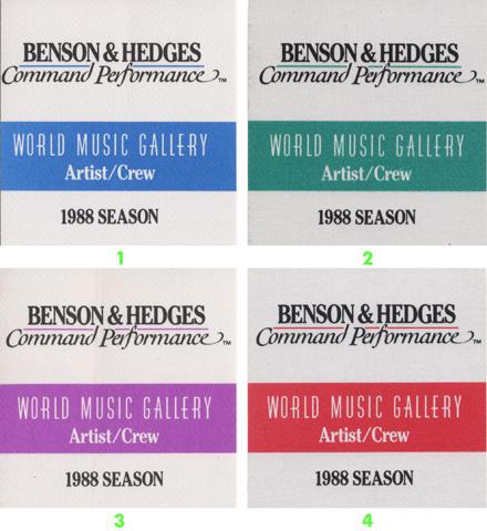 World Music Gallery - 1988 Season Backstage Pass