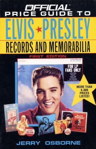 Price Guide to Elvis Memorabilia