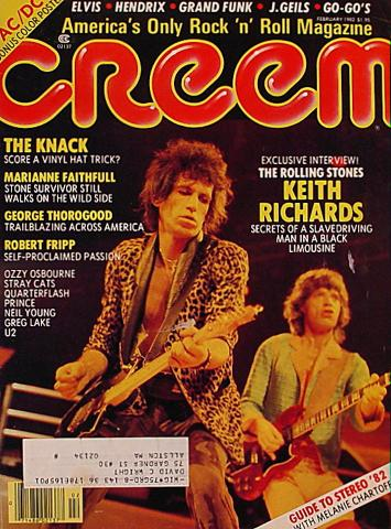 Creem Magazine February 1982