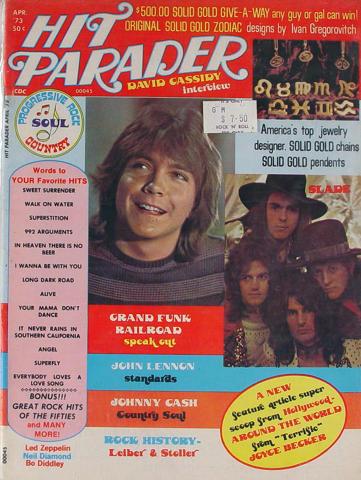 Hit Parader Magazine April 1973
