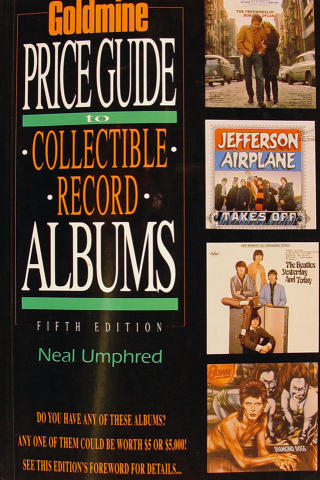 Goldmine Price Guide Collectible Record Albums Fifth Edition