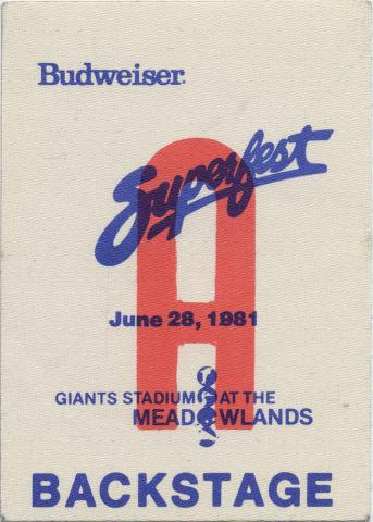 Budweiser Superfest Backstage Pass