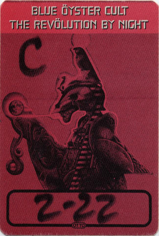 Blue Oyster Cult Backstage Pass