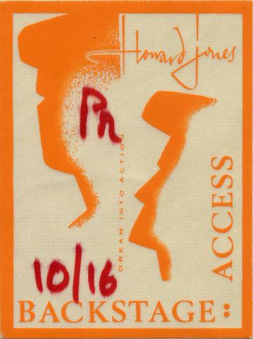 Howard Jones Backstage Pass