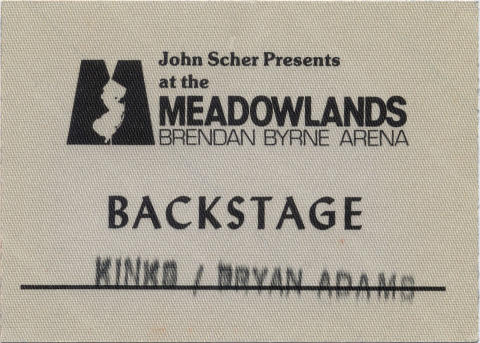 The Kinks Backstage Pass