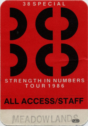 .38 Special Backstage Pass