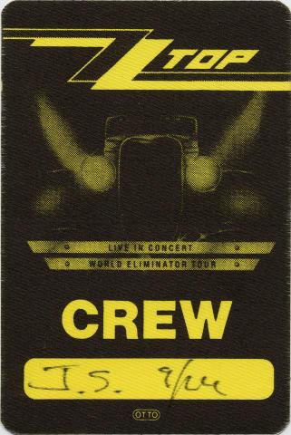ZZ Top Backstage Pass
