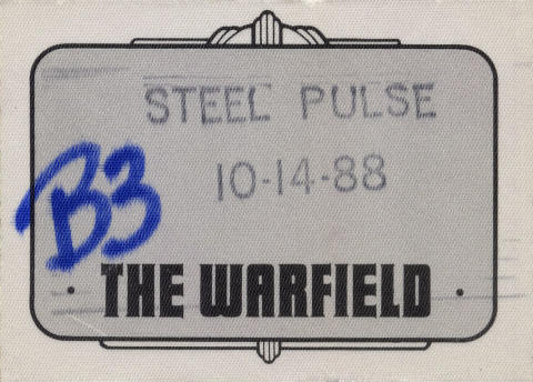 Steel Pulse Backstage Pass