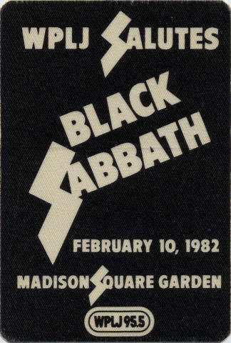 Black Sabbath Backstage Pass