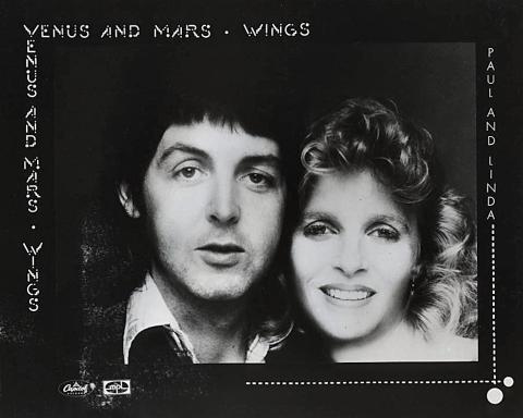 Paul and Linda McCartney Promo Print