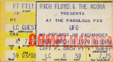UFO Vintage Ticket