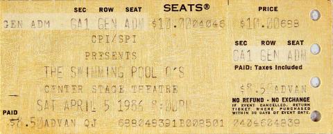 Swimming Pool Q's Vintage Ticket