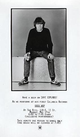 Dave Edmunds Vintage Ticket