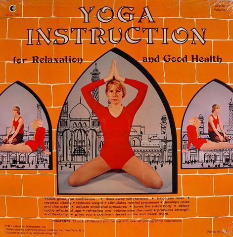 """Yoga Instruction for Relaxation and Good Health Vol. 2 Vinyl 12"""""""