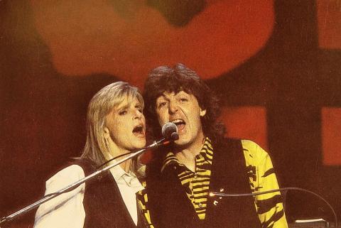 Paul and Linda McCartney Postcard