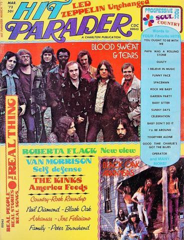 Hit Parader Magazine March 1973