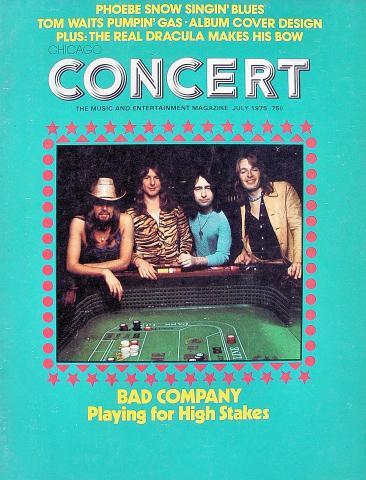 Chicago Concert Magazine July 1975