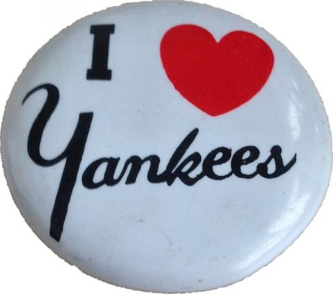 I Love Yankees Pin