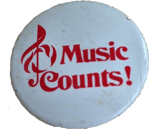Music Counts Pin