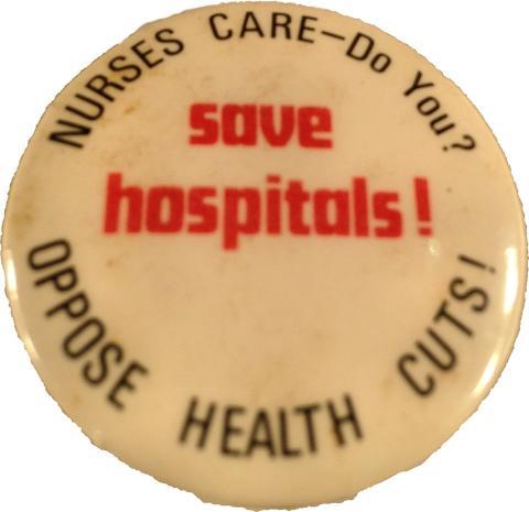 Save Hospitals Pin
