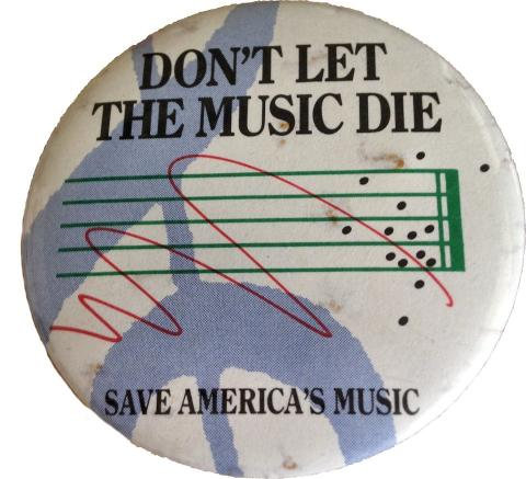 Don't Let The Music Die Pin