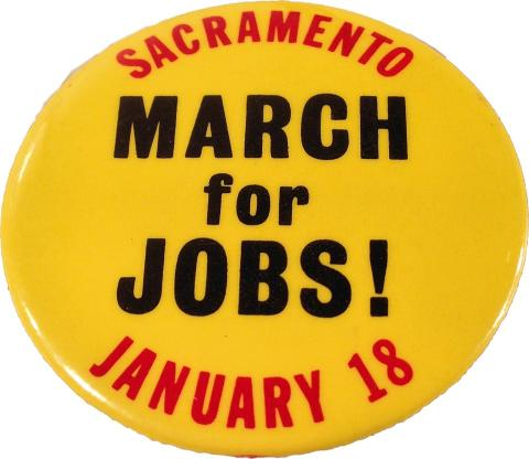 March For Jobs Pin
