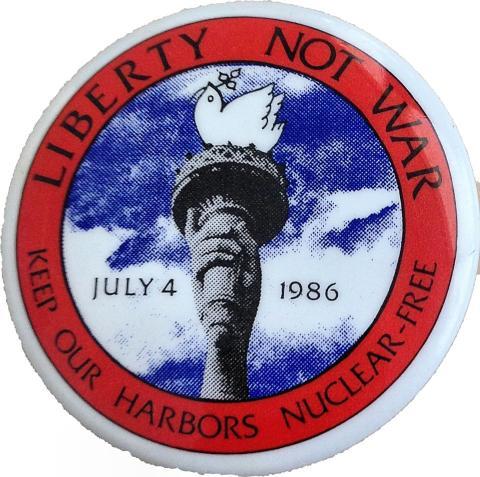 Liberty Not War Pin
