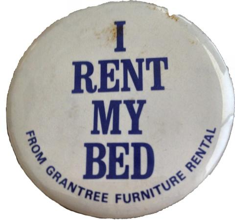 I Rent My Bed Pin