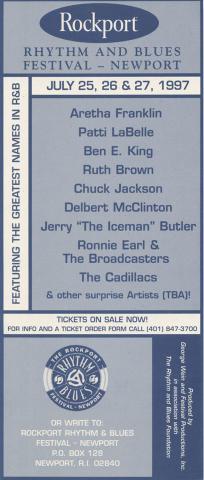 The Rockport Rhythm And Blues Festival Handbill