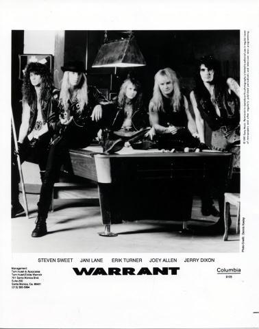 Warrant Promo Print