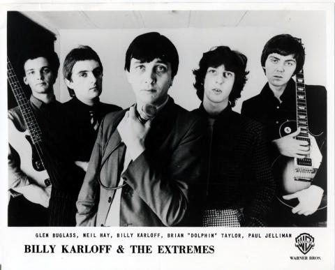 Billy Karloff & The Extremes Promo Print