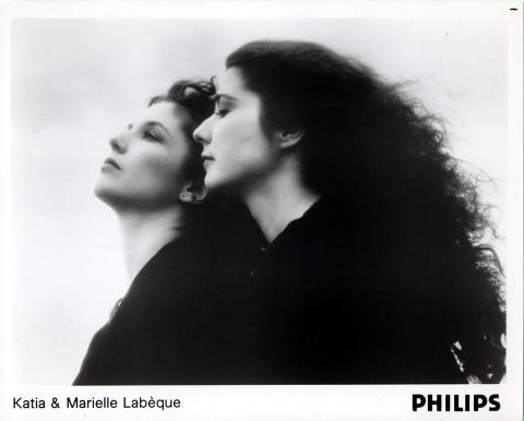 Katia & Marielle Labeque Promo Print